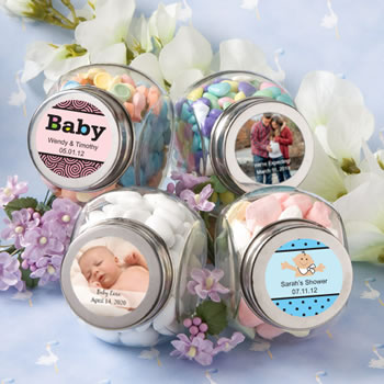 Personalized Glass Jar - Baby Shower Designs