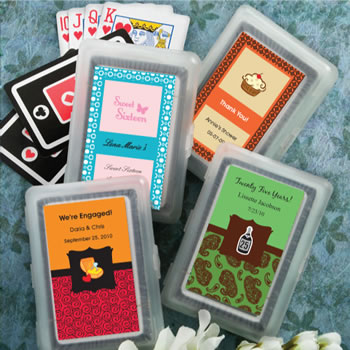 Sweet Sixteen Themed Personalized Playing Cards