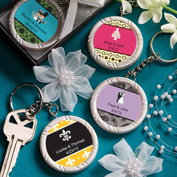 Personalized Expressions Collection Key  Ring Favors