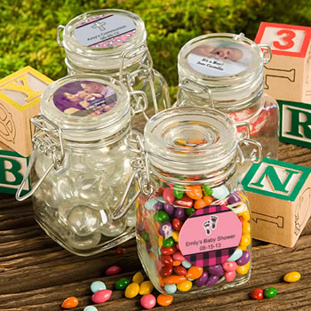 Personalized Apothecary Jar Favors - Baby Shower Designs