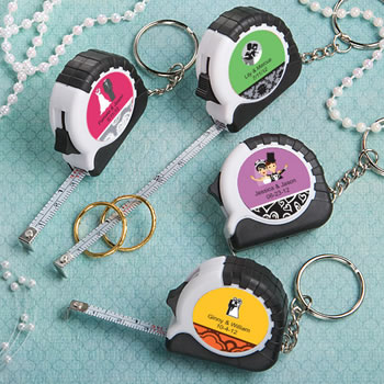 Personalized  Expressions Collection Key Chain / Measuring Tape Favors