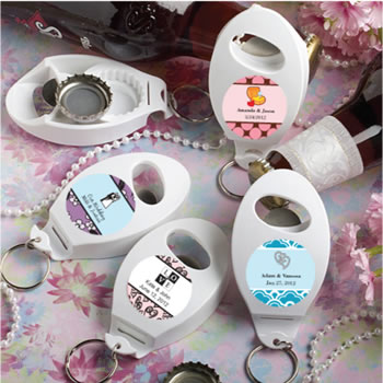 Personalized Expressions Collection  Bottle Opener/Key Chain  Favors