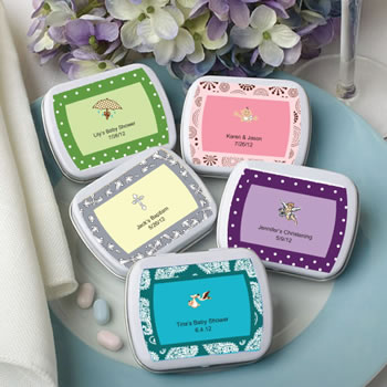 Baby Shower Personalized Expressions Collection Mint Tins