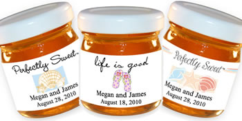 Personalized Honey Favors - Beach Theme (13 designs available)