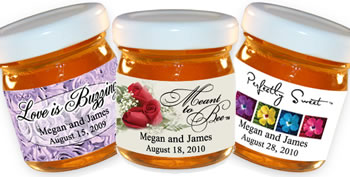Personalized Honey Favors - Flower Theme (14 designs available)