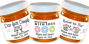 Personalized Honey Favors - Heart Theme (5 designs available)