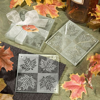 Fall Themed Coaster Favors