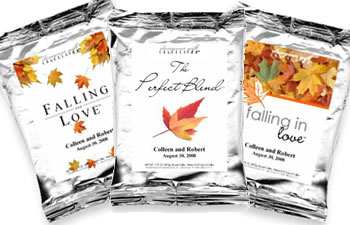 Personalized Fall Theme Coffee Favors -  (5 designs available)