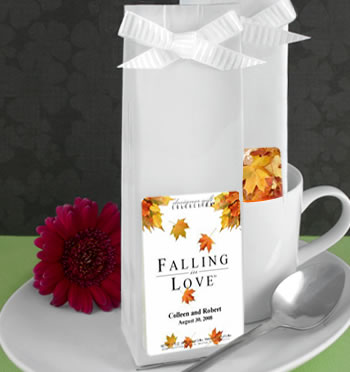 Fall Personalized Coffee Wedding Favors