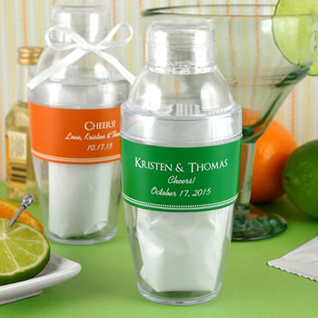 Personalized Cocktail Shaker with Margarita Mix