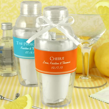 Personalized Cocktail Shaker with Lemon Drop Mix