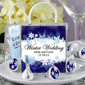 Hershey's Kisses Mini Gift Tote Favors: Winter Designs