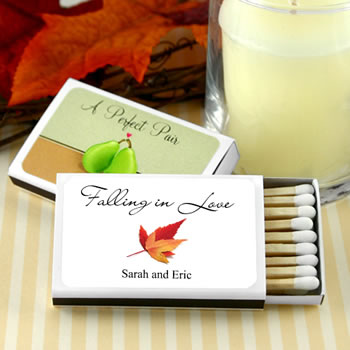 Personalized Matches - Fall Designs - Set of 50 (White Box)