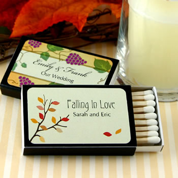 Personalized Matches - Set of 50 (Black Box): Fall Designs