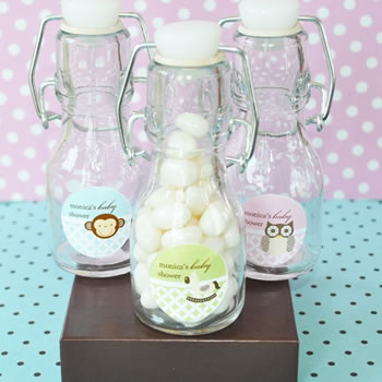 Baby Animal Personalized Mini Glass Bottles