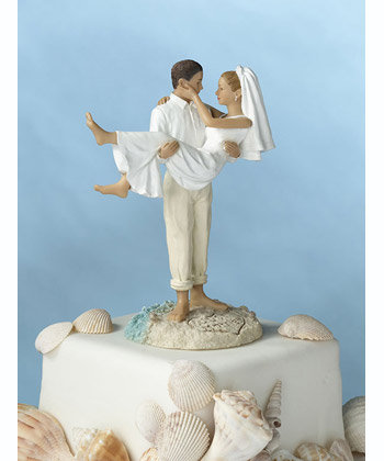 "Lillian Rose  7"" Just Married Beach Couple Figurine"