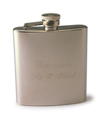 Engraved Stainless Steel 7 oz. Flask