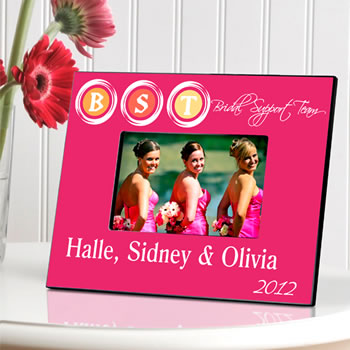 Personalized Bridal Support Team Picture Frame (2 Colors Available)