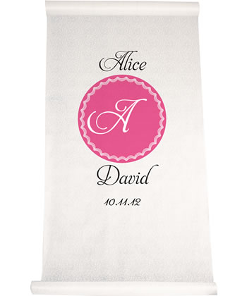 Circle Initial Aisle Runner