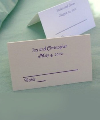 Name and Date Seating Cards