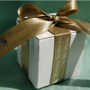 Personalized Ribbon Favors - Gold Satin