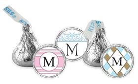 Personalized Monogram Hersheys Kisses Wedding Favors (34 Designs Available)