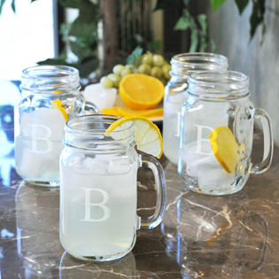 Old Fashioned Drinking Jars (Set of 4)