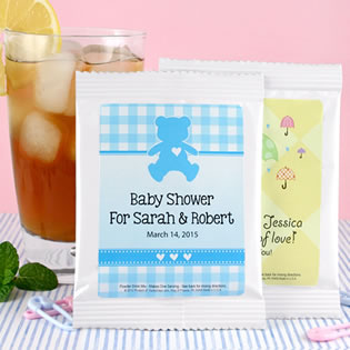 Iced Tea Baby Shower Favors