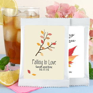 Fall Theme Iced Tea Wedding Favors