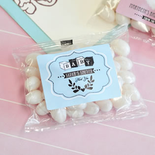 Vintage Baby Personalized Jelly Bean Packs