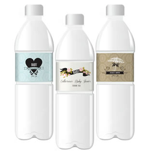 Vintage Baby Personalized Water Bottle Labels