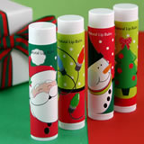 Holiday Theme Lip Balm Party Favors