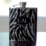 Personalized Zebra Flask