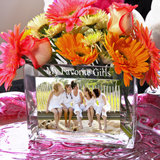 Personalized Glass Photo Vase