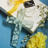 Murano Glass Collection Hanging Cross Favors (white)