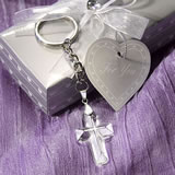 Choice Crystal Collection Cross Key Chain