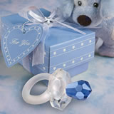 <em>Choice Crystal</em> Blue Pacifier Favors