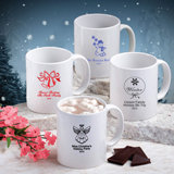 Holiday Themed Ceramic Coffee Mug - Personalized