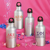 Personalized Metal Water Bottle Favors: Greek Designs