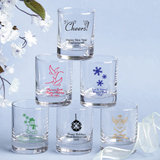 Holiday Themed Candle Votives or 3.5 oz. Shot Glasses - Personalized