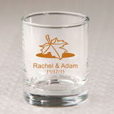 Personalized Fall Shot Glass / Votive Favors 3.5 oz
