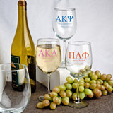 Personalized Greek Design Wine Goblet Favors - 12 Oz.