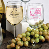 Personalized Sweet Sixteen Wine Goblets Favors - 12 Oz.