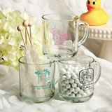 Personalized Baby Shower  glass Handy mug favors - 10 Oz.