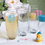 <em>Personalized Stemless Champagne Flutes - Baby Shower Designs - Silkscreened</em>
