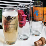 <em>Personalized Stemless Champagne Flutes - Silkscreened</em>
