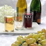 <em>Silkscreened Glassware Collection</em> Bistro glasses: Greek Designs