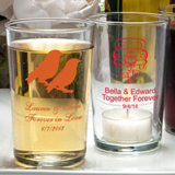 <em>Silkscreened Glassware Collection</em> Bistro glasses