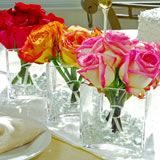Glass Vase Wedding Centerpiece