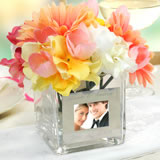Square Glass Vase with Picture Frame
